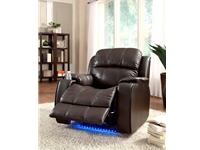 Home Eleglance - Power Reclining Chair with Massage, LED & Cup Cooler