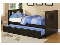 Poundex Twin Bed w/ Trundle F9050 (811) by New Furniture 4 Less