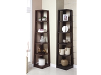 Poundex - F4613 - 5-Tier Book Shelf, Walnut