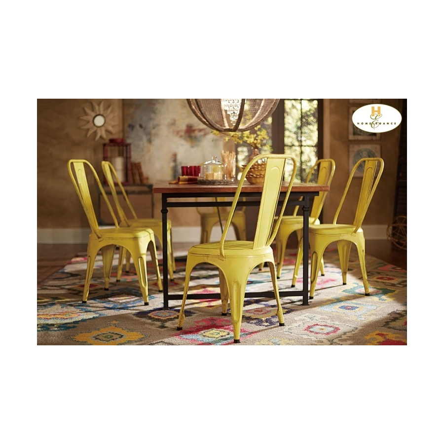 Home Eleglance - Metal Chair, Yellow