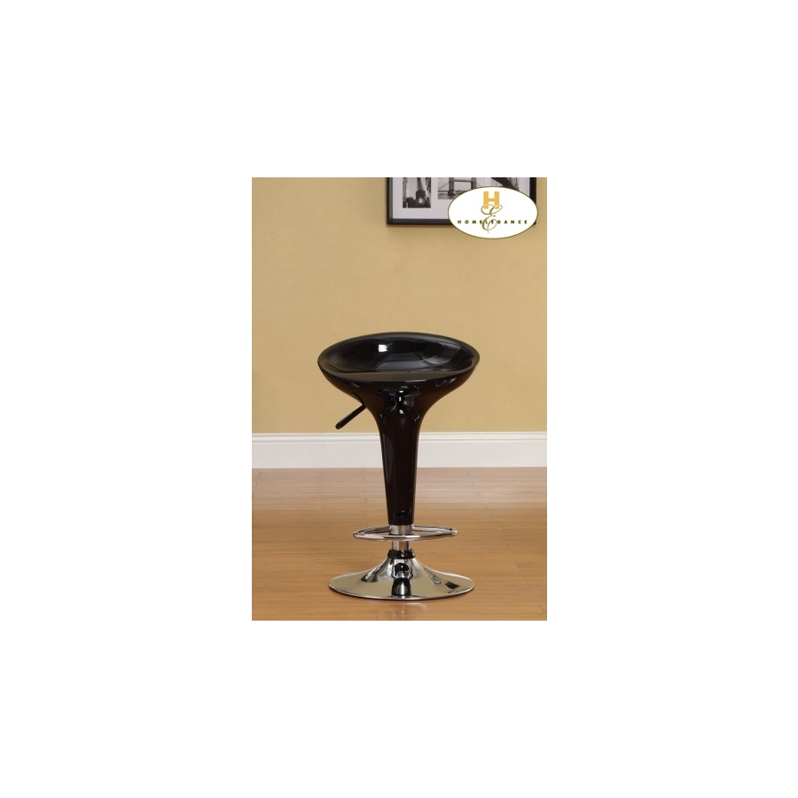 Home Eleglance - Black Airlift Swivel Stool