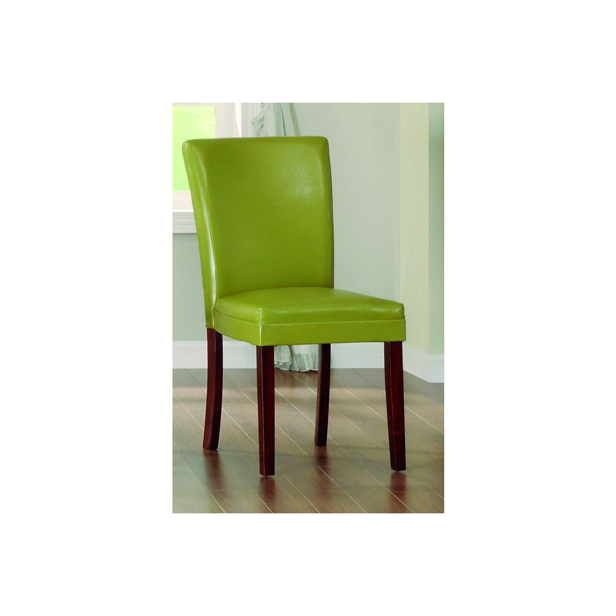 Home Eleglance - Side Chair, Chartreuse-Yellow Bi-Cast Vinyl