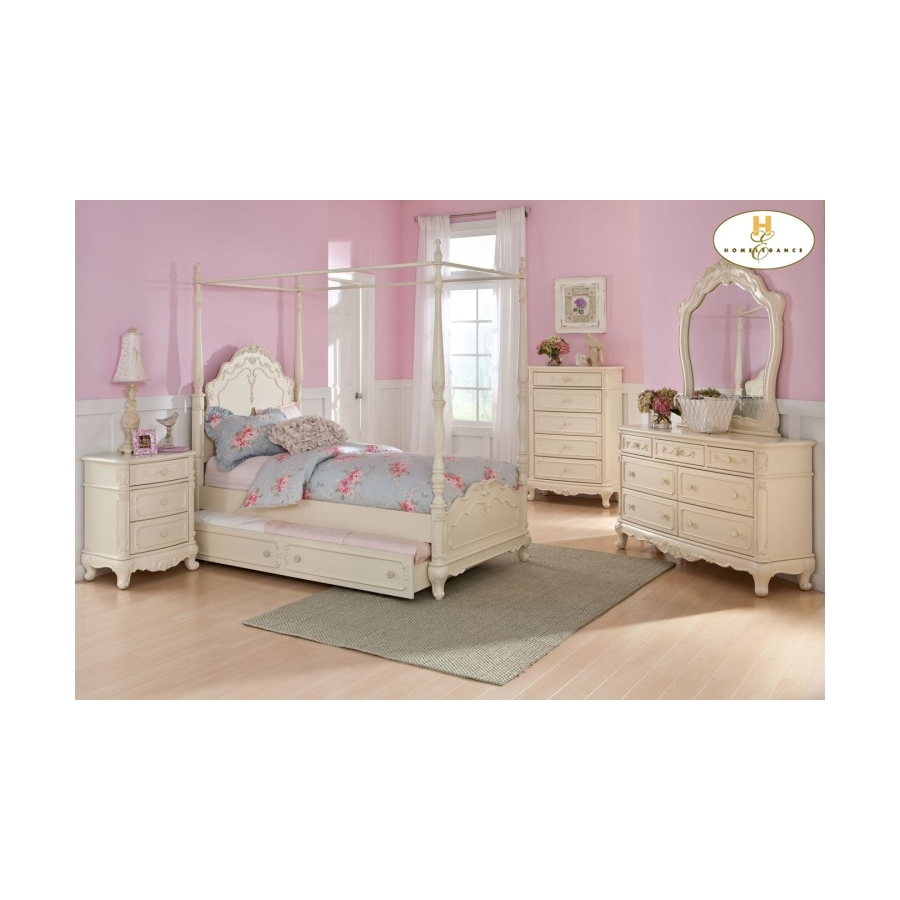 Home Eleglance -Twin Canopy Poster Bed