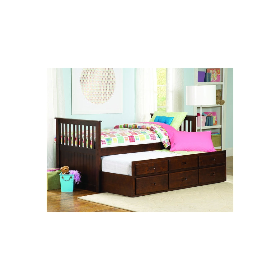 Home Eleglance - Twin/Twin Trundle Bed with Storage Drawers