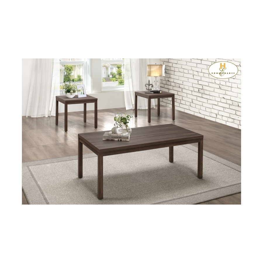Home Eleglance - 3-Piece Occasional Tables with Melamine Top