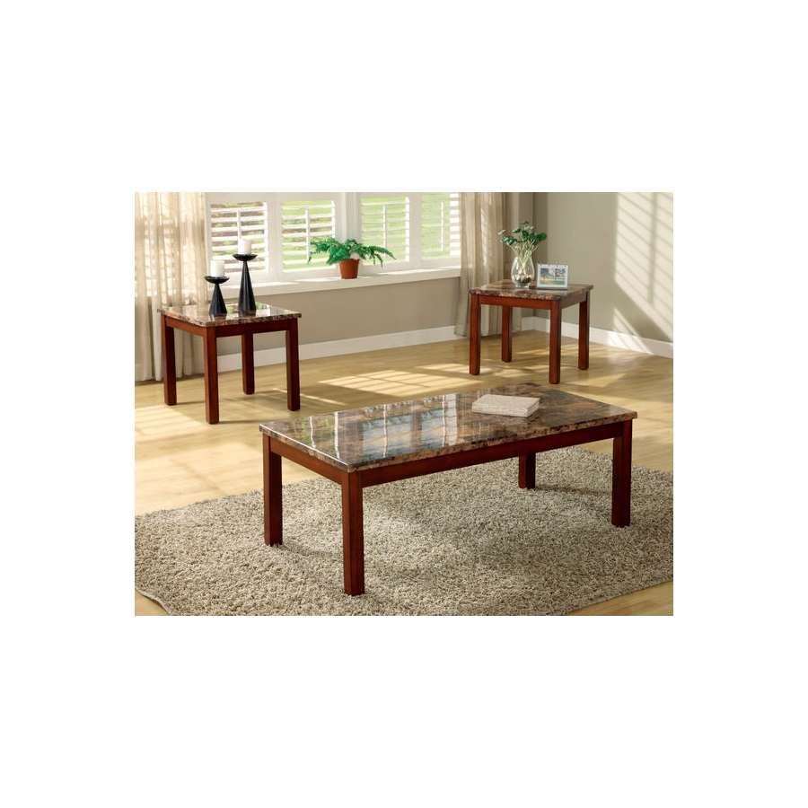 Home Eleglance - 3-Piece Occasional Tables (Faux Marble Top)