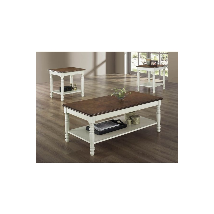 Home Eleglance - 3-Piece Occasional Tables (Solid Wood Top)