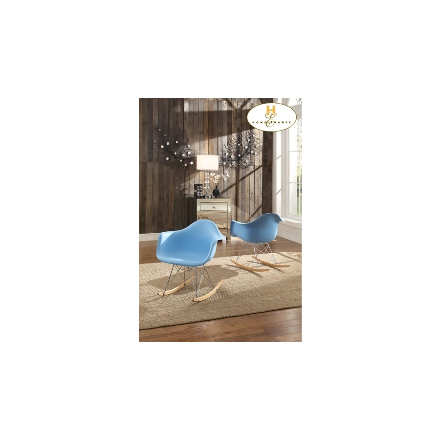 Home Eleglance - Cradle Chair, Blue Finish