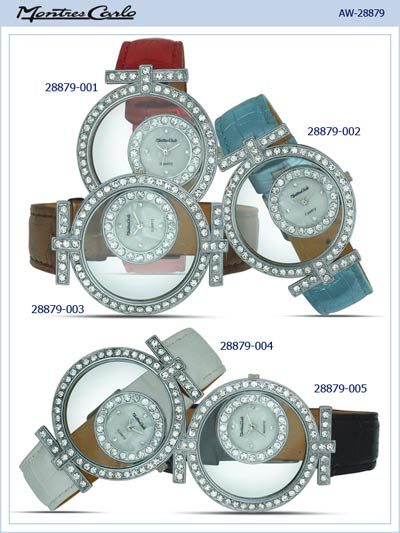 Montres Carlo Women Leather Band Watch