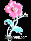 Rhinestone Flower Brooch Pin #1382
