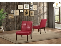 Home Eleglance - Accent Chair, Red