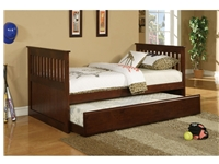 Poundex Twin Bed w/ Trundle F9052 (812) by New Furniture 4 Less