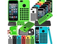 New Slim Soft TPU Dots Silicone Case Cover for iPhone 5C