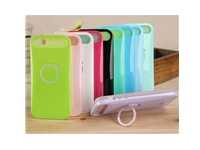 IGlow Dual Color Gel Hybrid Back Case Cover Stand for Apple iPhone 5S /5