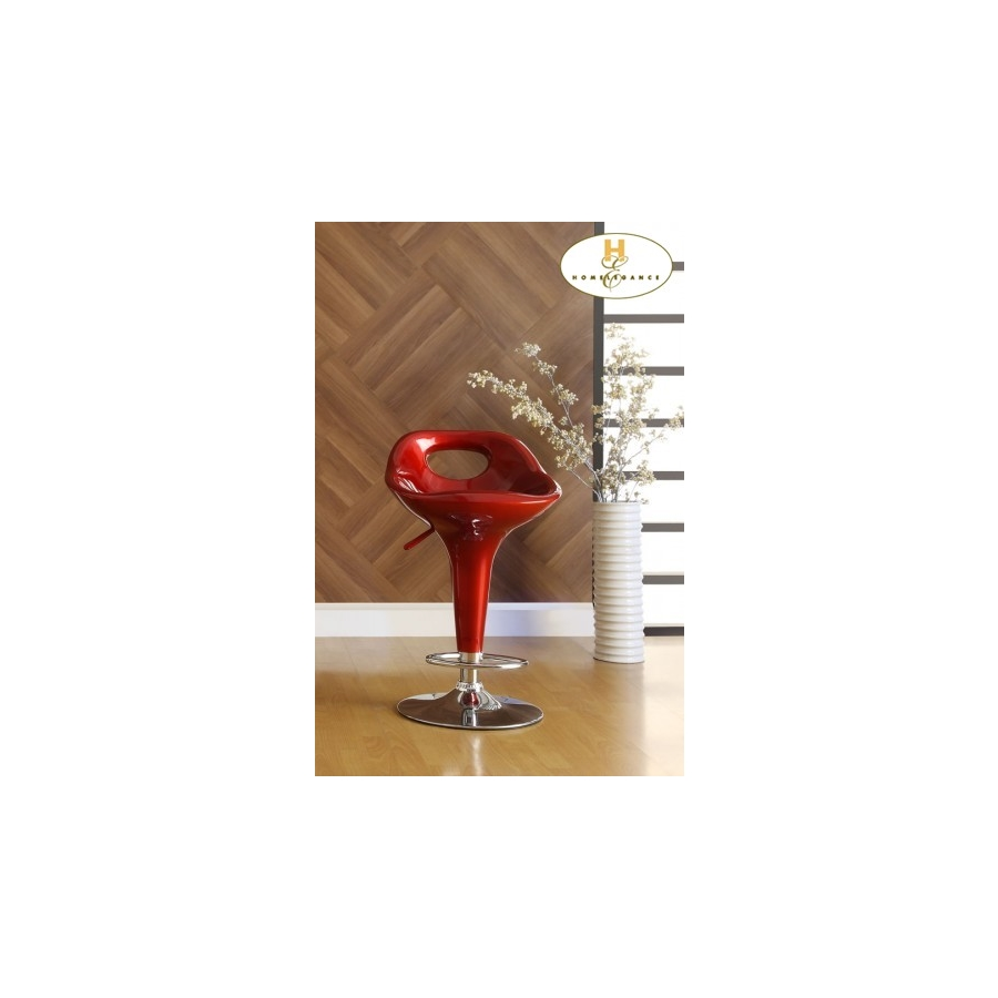 Home Eleglance - Red Airlift Swivel Stool