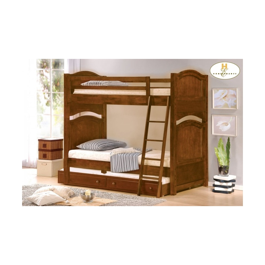 Home Eleglance -Twin Trundle Underneath Bunk Bed