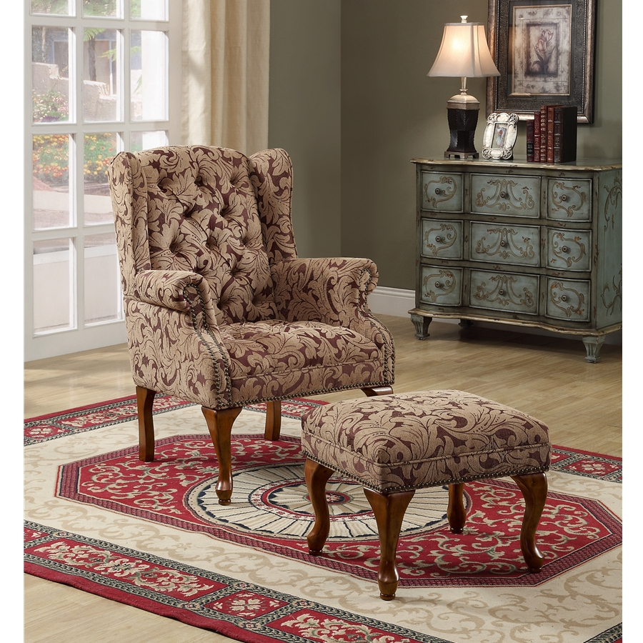 NF4L-3932B-Accent Chair W/Ottoman